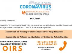 ATENCIÓN USUARIOS-CONTINGENCIA CORONAVIRUS